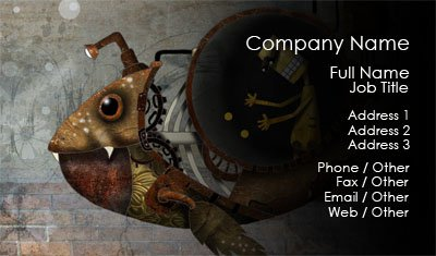 Metal Fish Business Card Template
